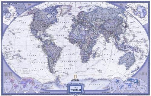 mapa mundial hd lilás 65cmx100cm para decorar sala