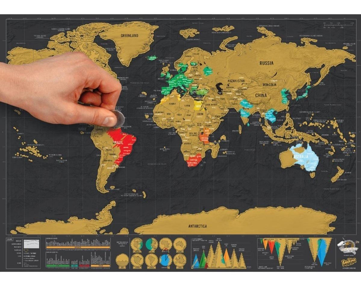 Mapa Mundial Rascable Scratch Map Viajero 42 X 30 Cm 210 00 En