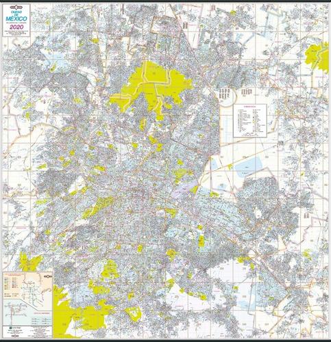 mapa mural ciudad de mexico guia roji 2020 plastificado