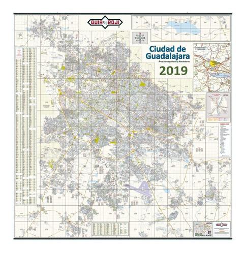 mapa mural  guadalajara 2019 guia roji