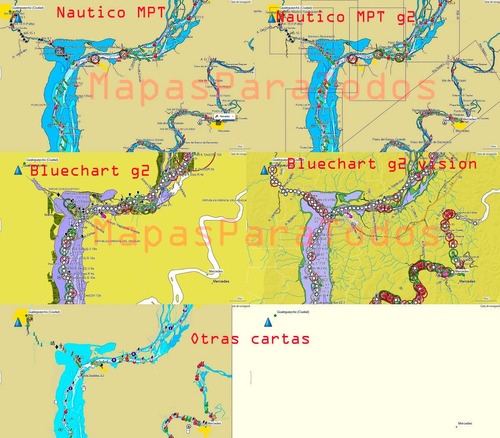 mapa náutico sudamérica costa este