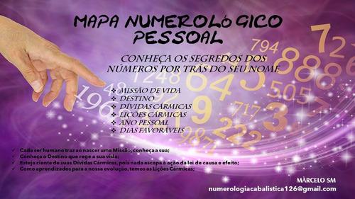 mapa numerológico cabalístico pessoal