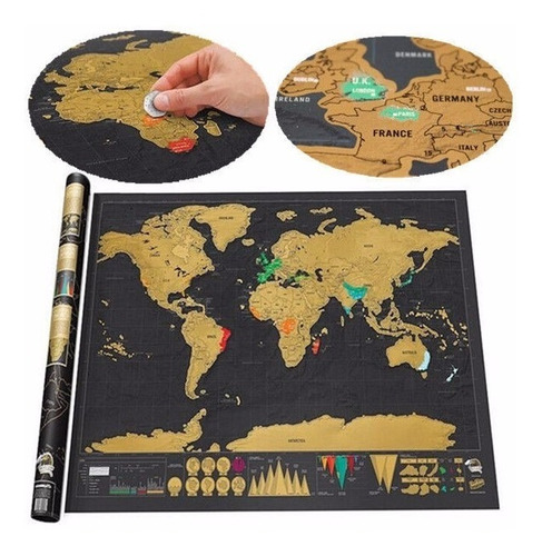 mapa para raspar scratch map deluxe edition 82x59cm raspable