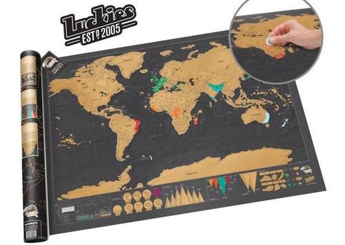 mapa para raspar viaje mapamundi scratch deluxe 82x59 grande