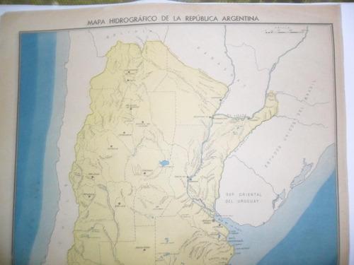 mapa pidrografico republica argentina lamina billiken plano