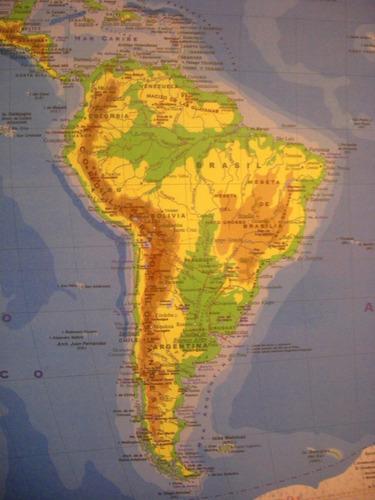 mapa planisferio físico/político 95 x 130 doble faz