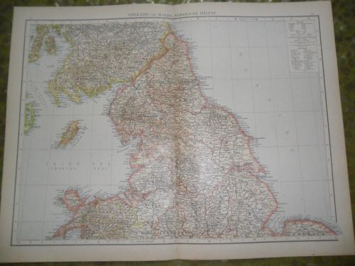 mapa plano 1893 englad wales nordliche halfte chester berwic