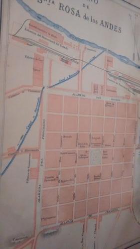 mapa plano de santa rosa de los andes, 1897 - envio gratis