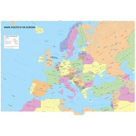 Mapa Político De Europa. 1,50mx0,90m. En Lona! Envio Gratis!