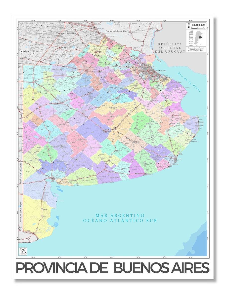 Mapa Politico Provincia De Buenos Aires 80cmx61cm 1 229 00 En