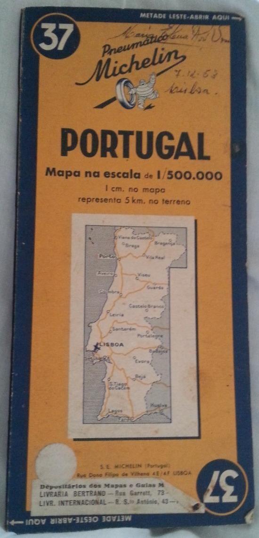 Mapa Portugal Michelin 37 229 89 En Mercado Libre