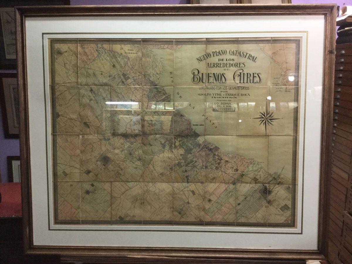 Mapa Provincia De Buenos Aires Catastral Antiguo - $ 23.000,00 en ...