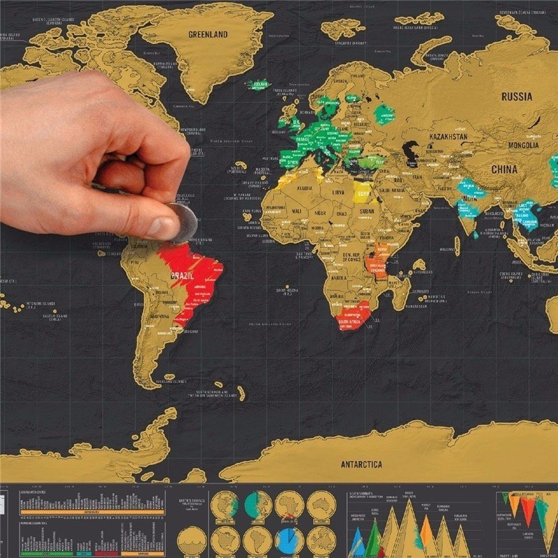 Mapa Rascar Visitados Paises Viajes Viajero Deluxe Mochilero
