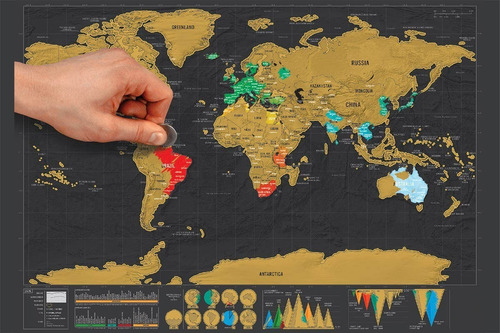 mapa raspa scratch map raspadita viajeros vinilo rega .