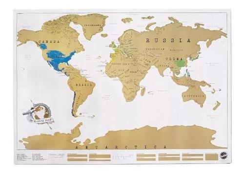 mapa raspa scratch map raspadita viajeros vinilo regalo