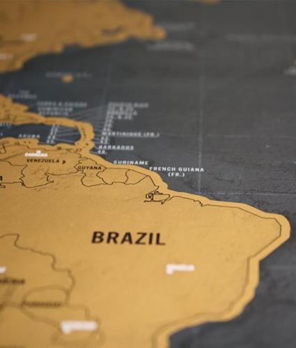 mapa raspa scratch map raspadita viajeros vinilo regalo premium dorado
