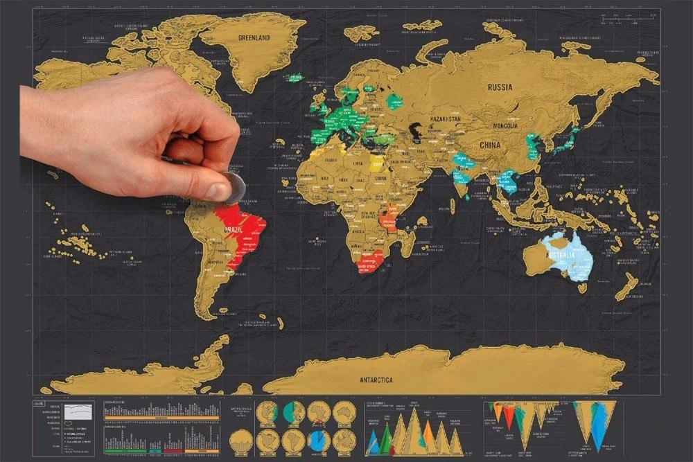 mapa raspadinha Mapa Raspadinha Deluxe   Scratch Map Mapa De Raspar Original   R  mapa raspadinha