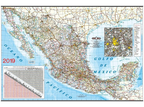 mapa  republica mexicana 2019 guia roji