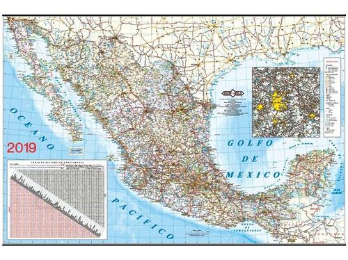 mapa república mexicana 2019 plastificado guía roji
