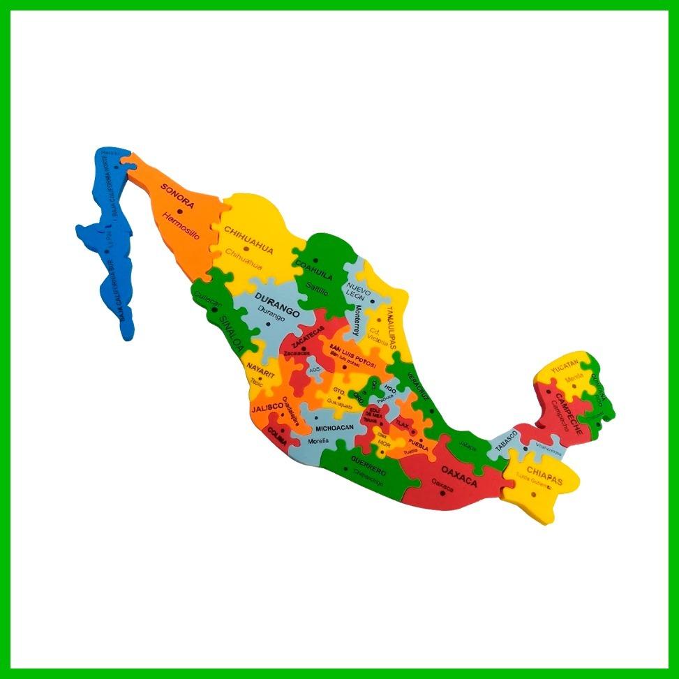 Mapa República Mexicana Escolar Foamy 2 14900 En Mercado Libre