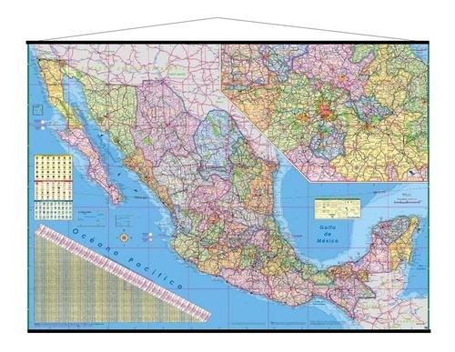 mapa república méxicana mural mexico cartulina y barila
