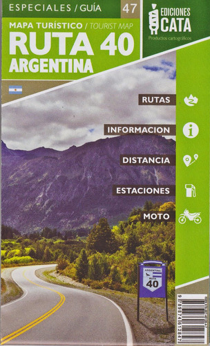 mapa rodoviário ruta 40 argentina dobrável
