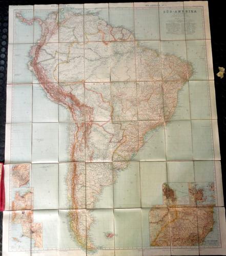 mapa süd- amerika - stieler - 1870