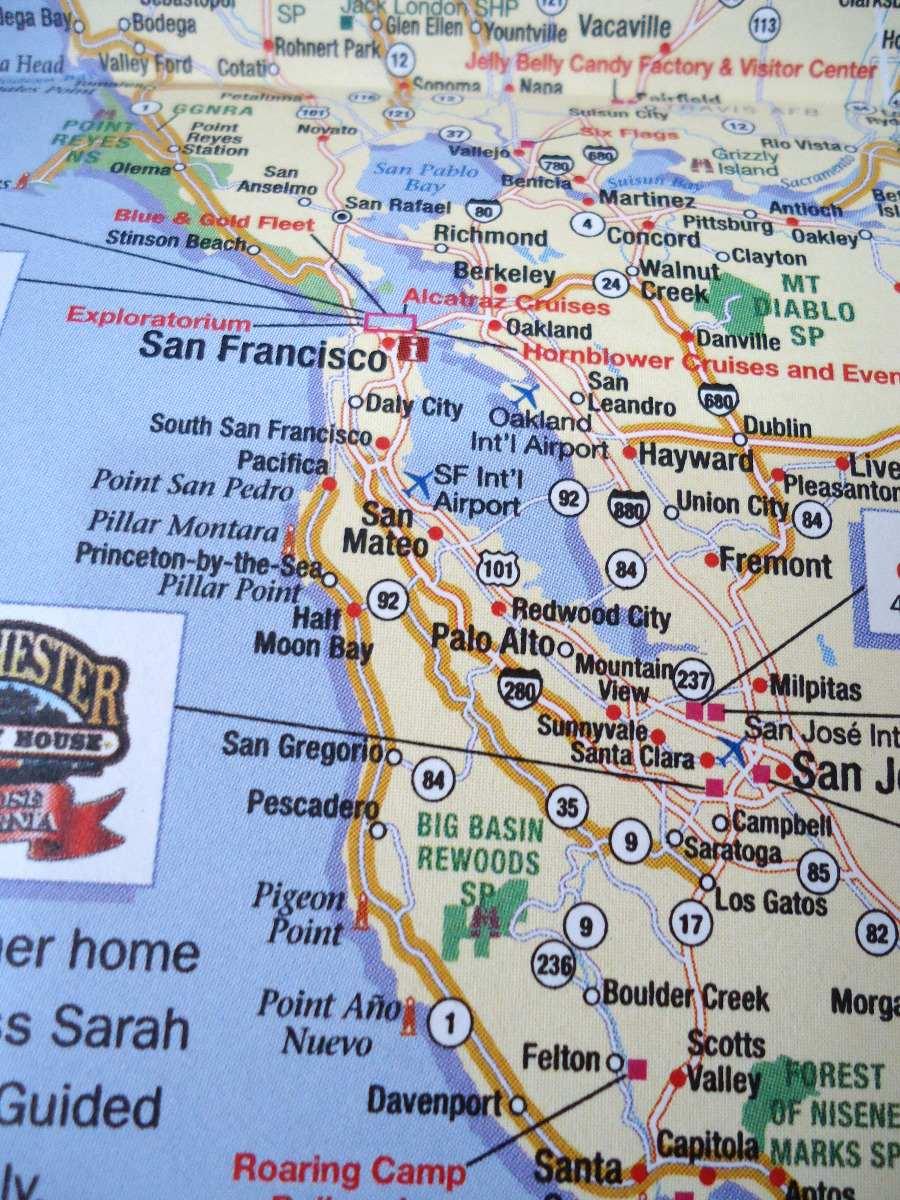 Mapa Turistico De California Us Oferta En Mercado Libre - Mapa de california