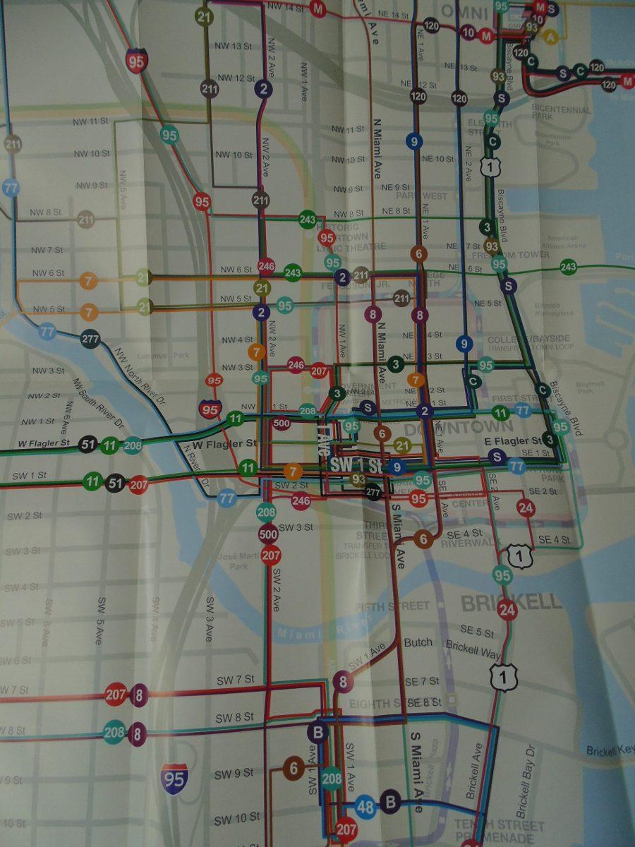 mapa turistico de la ciudad de miami y alrededores.