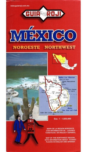 mapa turistico region noroeste mexico