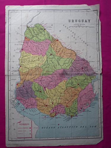 mapa uruguay coleccion de mapas billiken