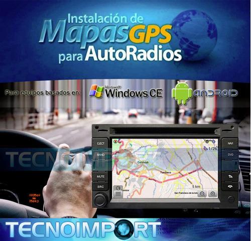 mapa vial ecuador gps 2018 autoradio windows ce android igo
