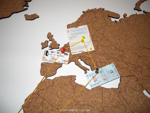 mapamundi de corcho 105x55cm en bastidor día de la madre