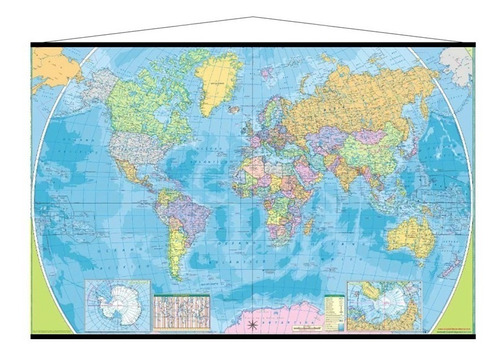 mapamundi mural del mundo mapa mundial con barilla cartulina