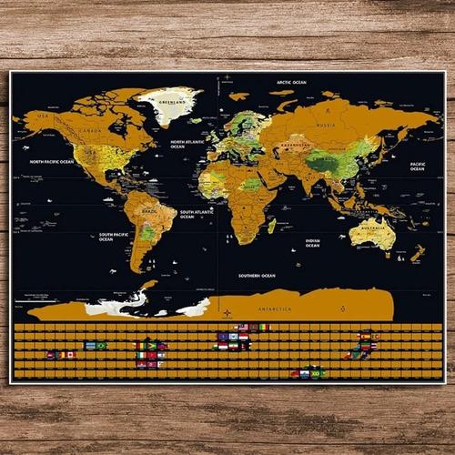 mapamundi raspar scratch black banderas edition belgrano