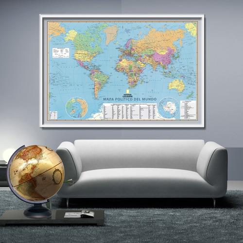 mapamundis national geographic - posters adhesivos gigantes