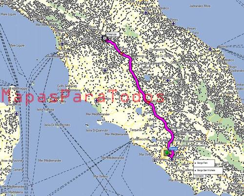 mapas 2018 de italia y grecia p/gps nuvi o drive