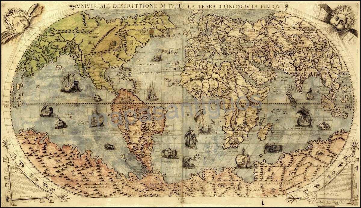 Mapas Antiguos En Laminas O Posters - $ 80,00 en Mercado Libre