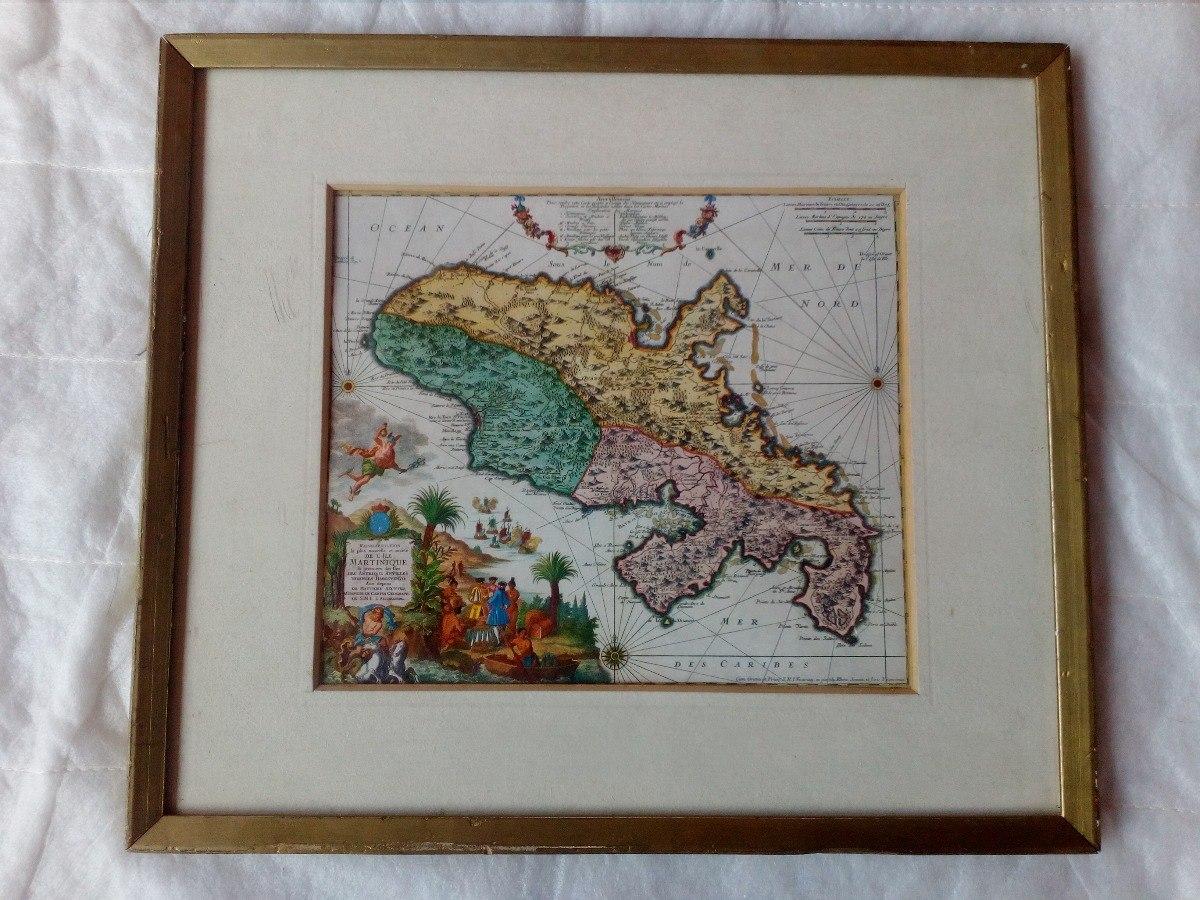Mapas Antiguos Enmarcados Como 4 Cuadros - S/ 150,00 en Mercado Libre