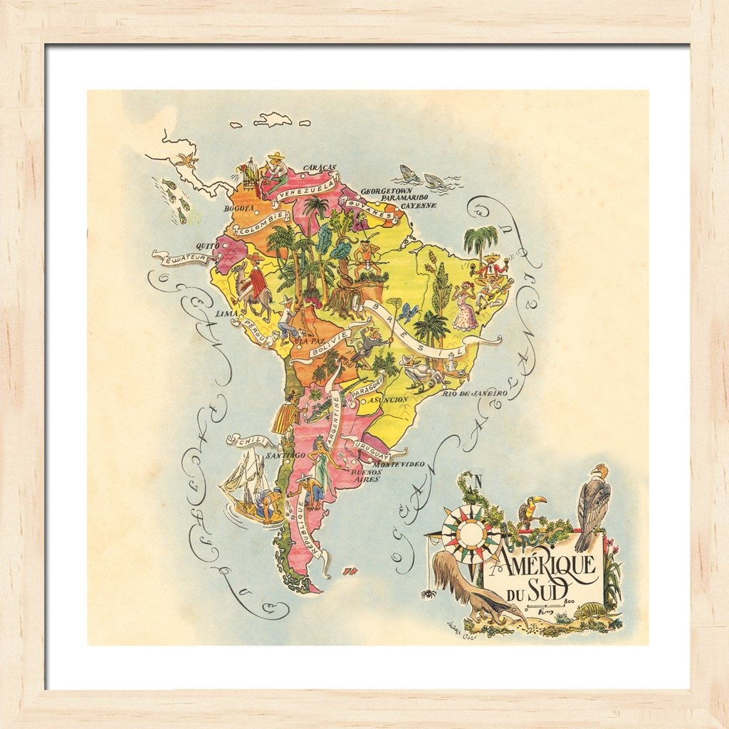 Mapas Continentes (america Del Sur, Madera Marupa) - $ 689,66 en ...