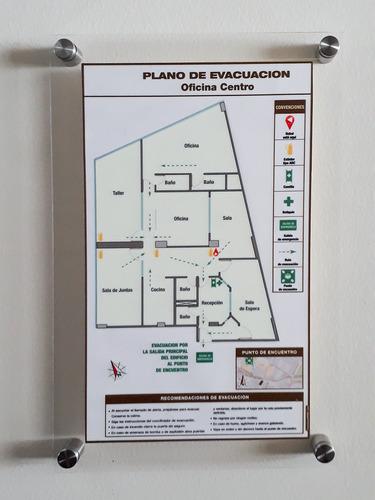 mapas planos rutas de evacuación emergencia contingencia