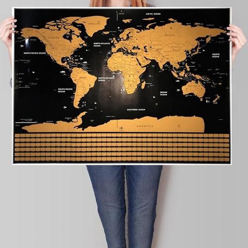 mapas raspables (scratching map)