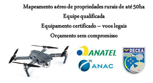 mapeamento aéreo de propriedades rurais por drone