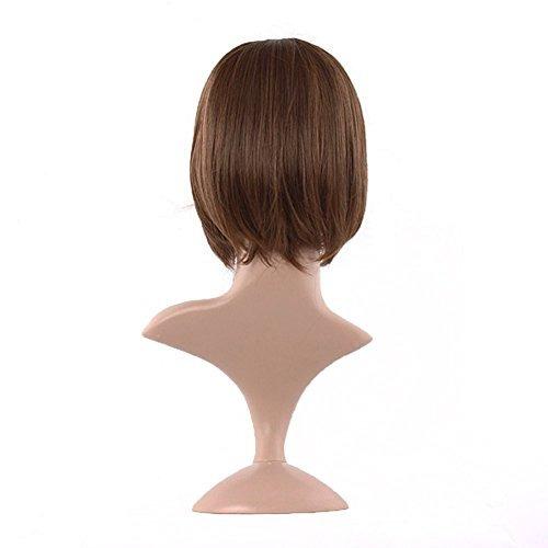 mapofbeauty 30cm 12 mujeres flequillo plano sintético natura