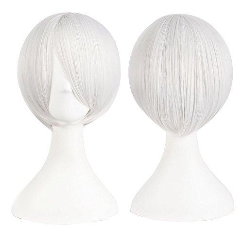 mapofbeauty peluca recta corto del partido de la peluca del