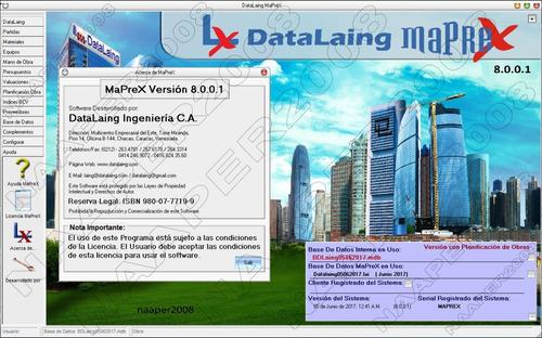 maprex 8.0.0.1 licencia personal, bdd de este mes