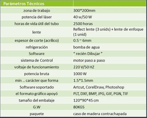 maq.láser cnc 3020/50w todo en español inc.soft. serv.pventa
