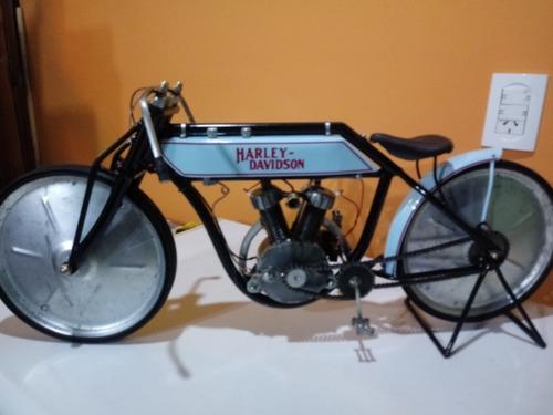 maqueta artesanal moto harley