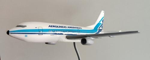 maqueta avión boeing 737 retro aerolineas argentinas