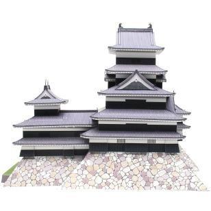 maqueta castillo matsumoto, japón (para armar en papel)